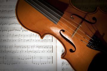 Violon et partition