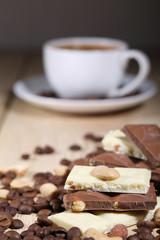 Chocolate and coffee with ice-cream