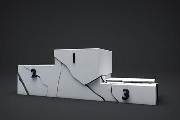 3D Isolated Podium Background Illustration