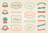 Vintage Labels Vector Design Elements Collection Set poster