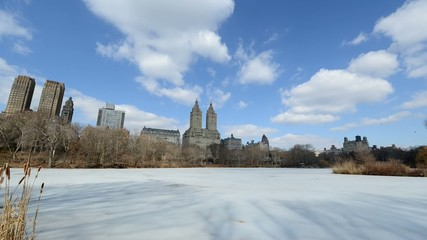 Timelapse of Central Park and clouds in Manhattan