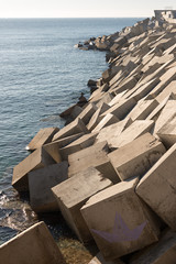 Breakwater cement blocks