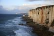 Cliffs of Etretat city in France