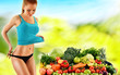 Balanced diet based on raw organic vegetables and fruits