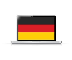 germany flag computer laptop illustration