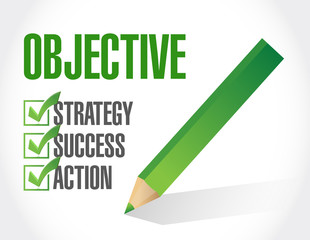 objective check list illustration design