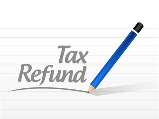 tax refund message sign illustration