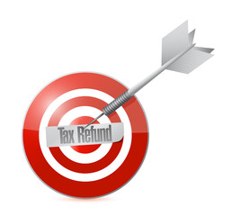 tax refund target illustration design