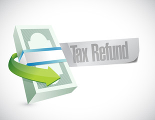 tax refund money symbol illustration