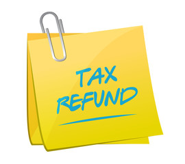 tax refund memo post illustration design