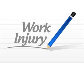 work injury message sign illustration
