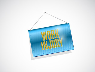 work injury hanging banner illustration