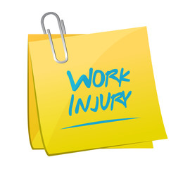 work injury memo post illustration design