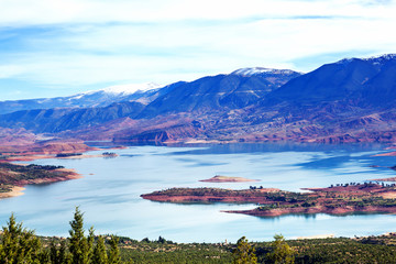 Lake Bin el Ouidane in Morocco