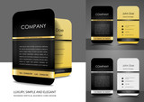 Fototapety Rounded business card design