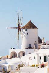 Windmill in Oia, Santorini.