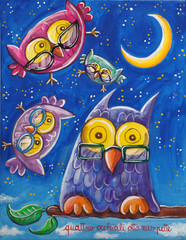Owls With Glasses