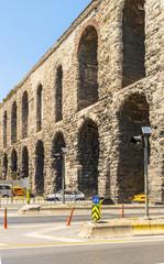 Ancient Roman aqueduct in Istanbul