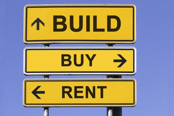 Build, buy, rent