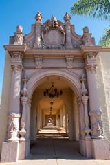 Gallery in  San Diego Balboa park, California