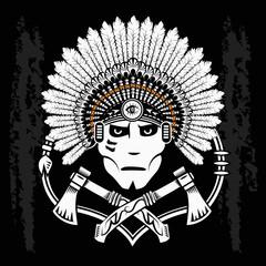 North American Indian warrior