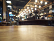 Table top Counter Bar with Restaurant background - 76159077