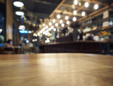 Photo: Table top Counter Bar with Restaurant background