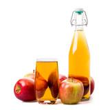 Apfelsaft und Äpfel