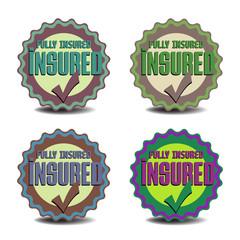 Insured stickers