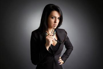 Portrait of a businesswoman puzzled