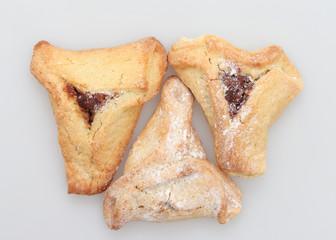 Traditional Jewish holiday food Purim Hamantaschen