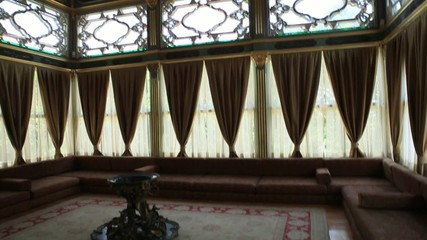 interior of the harem of the sultan at Topkapi palace