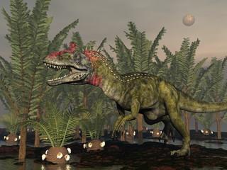 Cryolophosaurus dinosaur - 3D render