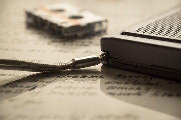 ポータブルカセットレコーダー