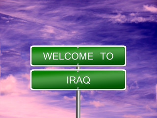 Iraq Welcome Travel Sign