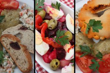 Salade de Crudités - Tielle à la Sétoise
