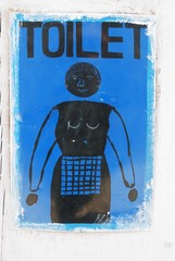 Nepal toilet restroom wc woman sign
