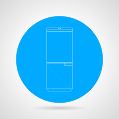 Circle vector icon for refrigerator