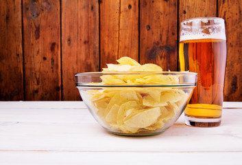 Crisps and beer