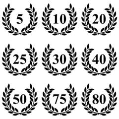 Lauriers de 5 à 80