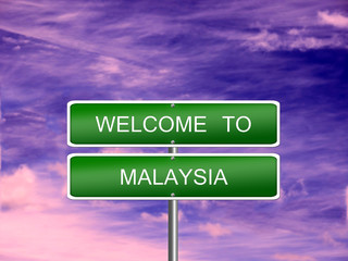 Malaysia Welcome Travel Sign