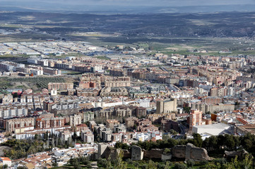 Aerial view of City of Jaen, Andalusia