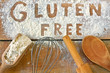 gluten free word with wood background - 76164021