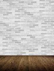 Innenraum mit Ziegelmauer