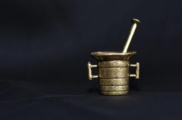 mini brass mortar