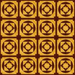 A textured wood inlay flooring design