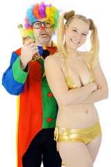 Clown und Raver zu Karneval und Fasching