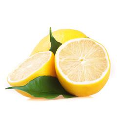 Fresh ripe lemons. Isolated on white background