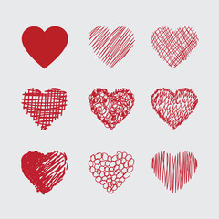 Hand drawn Vector heart