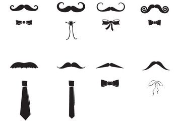 Moustaches and Ties